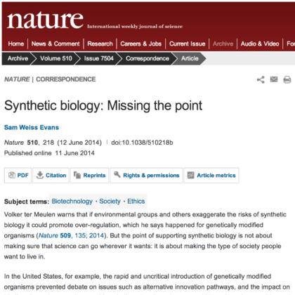 Evans et al 2014 Nature